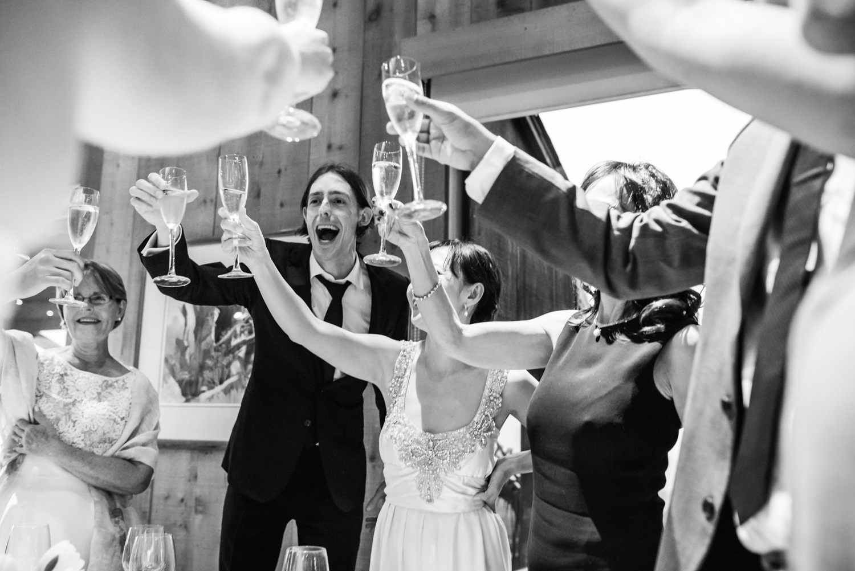 wedding guests at sea ranch lodge