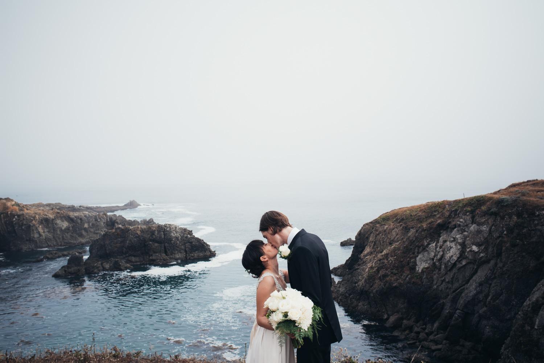 intimate wedding at sea ranch lodge