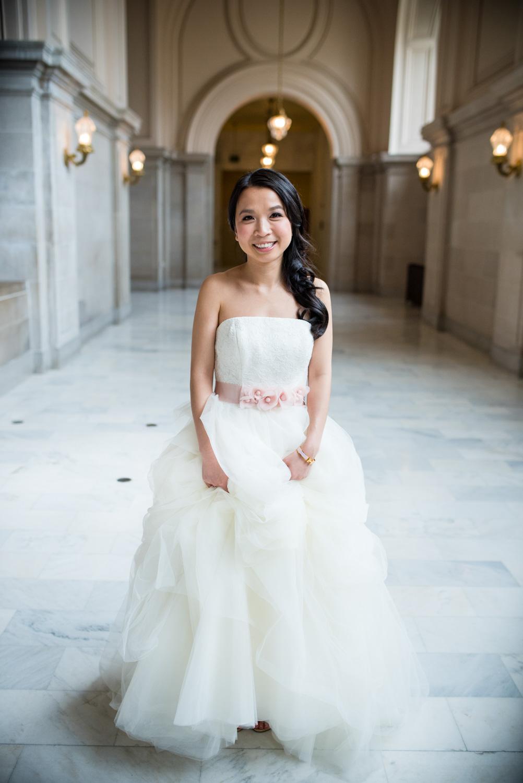 bride at at San Francisco city hall