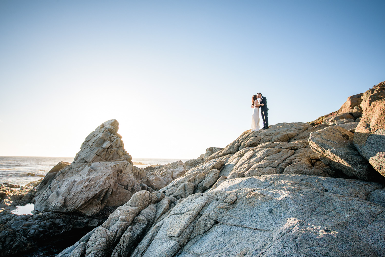 big sur cliff elopement